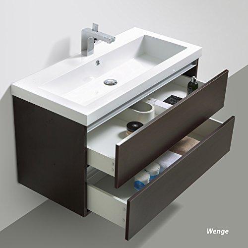 Badmöbelset Waschtisch, Unterschrank und Spiegel - 2