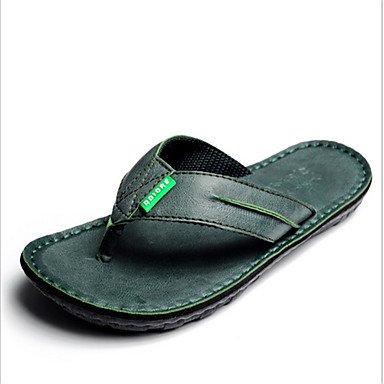 pantofole Infradito da uomo Pantofole & amp;Infradito Estate di cuoio casuali piani del tallone Altri sandali US8 / EU40 / UK7 / CN41