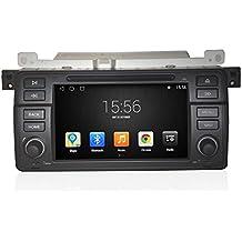 GOWE Android 4.4.4Quad Core 7pulgadas de navegación GPS coche reproductor de DVD para BMW E463Series M3/318i, 320i, con Bluetooth/RDS/Radio/Canbus/SWC