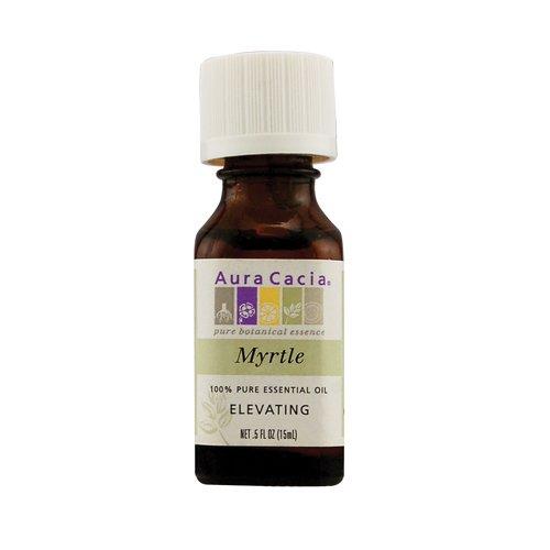 100% Pure Essential Oil, Myrtle, Elevating, .5 fl oz (15 ml) - Aura Cacia