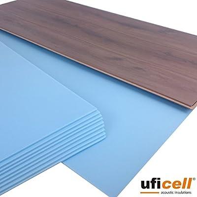 10 m² | uficell SOFT-Step Akustik Trittschalldämmung für Laminat-/Parkett- und Korkböden - 5 mm Stark - Hervorragend als Wärmedämmung geeignet - Trittschallverbesserung bis 22 dB(A) von United Foam Industries GmbH auf TapetenShop