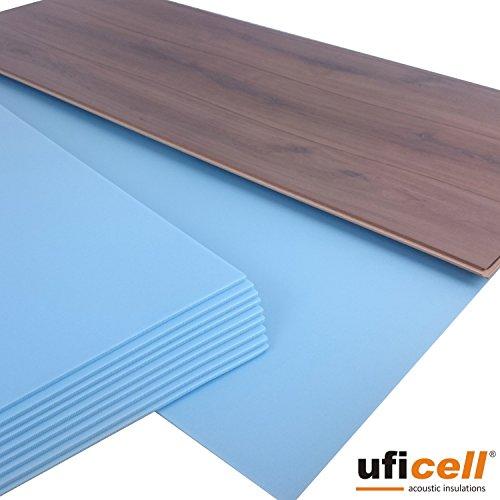 20 m² | uficell SOFT-Step Akustik Trittschalldämmung für Laminat-/ Parkett- und Korkböden - 5 mm Stark - Hervorragend als Wärmedämmung geeignet - Trittschallverbesserung bis 22 dB(A) (Sie kaufen 2 Pakete a 10 qm =, 20 m²)