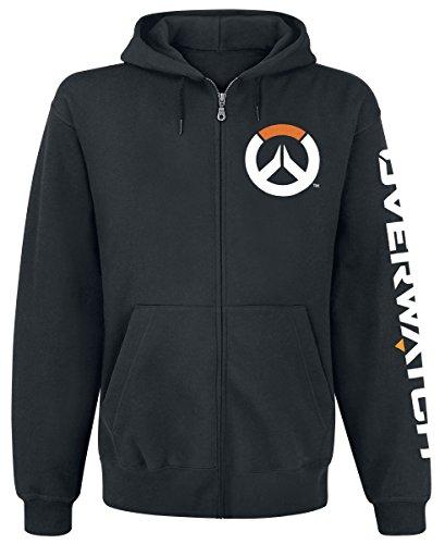 Overwatch Logo Sweat Zippé à Capuche Noir Overwatch