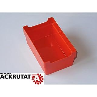 100 Kleinteilebox Schraubenkasten Sortimentsbox rot Kasten Lagerkasten Lagerbox