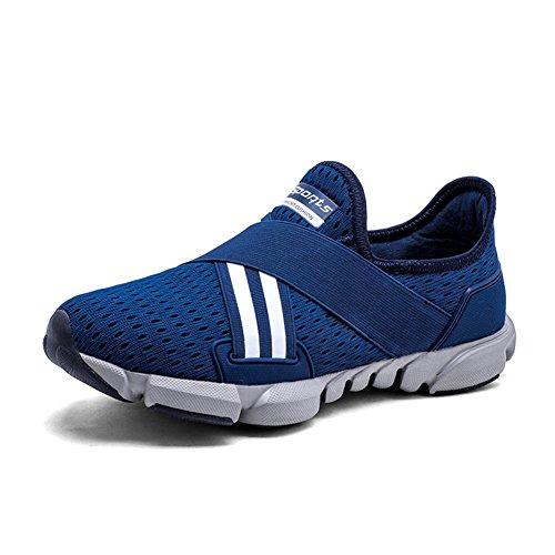 ZOEASHLEY Herren Laufschuhe Sneakers Leicht Ohne Schnürsenkel Slip on Turnschuhe Outdoor Running Schuhe Gr.38-45
