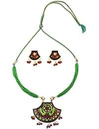 Makezak Designer Meenakari Necklace Set For Women And Girls.