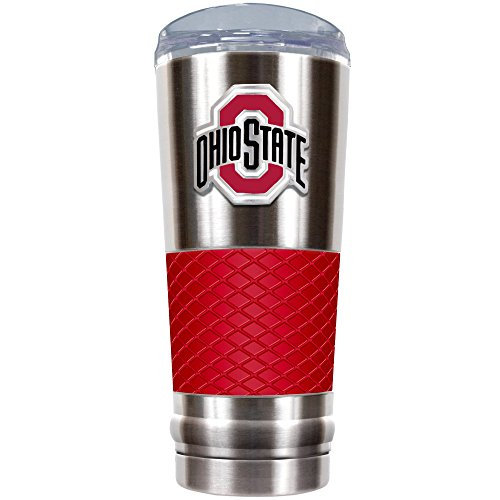 Great American Products NCAA Ohio State Buckeyes Draft Tumbler, 61 ml, Silber/Rot Great American Products Tumbler