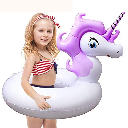 HooYL Kinder Schwimmring,Mini Aufblasbarer Einhorn Schwimm Pool,Unicorn Pool-Party Schwimmtier Luftmatratze,Einhorn Schwimm Floß Badespielzeug für Kinder ab 8 Jahren Alt