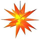 Dekostern Gelb 18 Zack Kunststoffstern Leuchtender Stern Innen + Außen Weihnachtsdekoration
