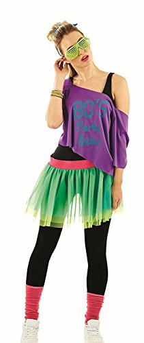80's Print Tutu Costume Kit size 10-12