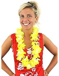 Ilovefancydress lot de 24 Hawaiian guirlande de lei, collier de fleur de hula fantaisie accessoire vestimentaire. Coloré fête de plage hawaïenne, hawaï luxe épais lei.