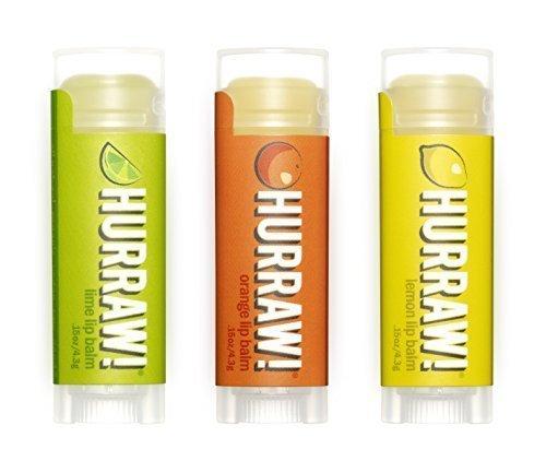 Hurraw! Lip Balms 3-pack: Lime, Orange, & Lemon by Hurraw! Balm -