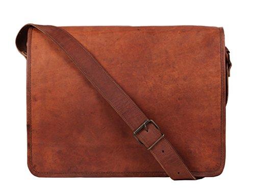 Rustic town alta qualità fatto a mano borsa in cuoio a tracolla vera pelle cartella in pelle notebook bag in pelle stile vintage e antiquariato per uomini e donne un regalo da artigiano indiano. …
