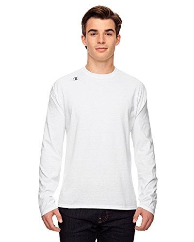 T390Champion Vapor® Baumwolle Langarm T-Shirt Weiß - Weiß