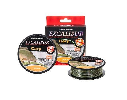Energo Team Excalibur Camou 300m 0,30mm Karpfenschnur Angelschnur Angelsehne Line Monofile Schnur Mono Schnur