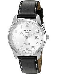 Tissot T0494101603201 - Reloj analógico de caballero de cuarzo con correa de piel negra