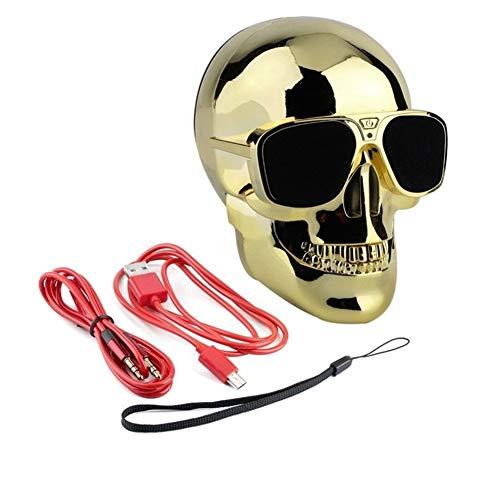 LIUMSJ Tragbare Lautsprecher drahtlose Sonnenbrille schädel Bluetooth Lautsprecher bass Halloween Cartoon Geschenk Mini schädel Kopf Form tragbare (Color : 4)