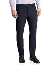 oodji Ultra Hombre Pantalones de Algodón con Ribete en la Cintura adb01700e362