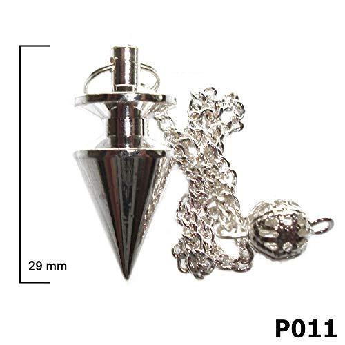 Ägyptisches Metall Wünschelruten-Pendel, Mit Aufbewahrungsbeutel, Für Reiki Heilung Und Wahrsagerei, metall, silber, P011