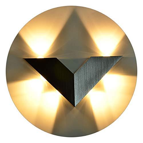 Kawell moderno applique da parete led lampada da parete alluminio lampada da muro interno per camera da letto, corridoio, soggiorno, scale, ktv, bianco caldo 18w led