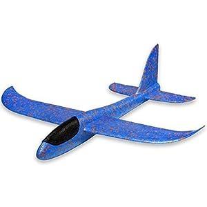 UChic 1 STÜCKE 36 CM Wurf Segelflugzeug Trägheits Flugzeug Schaum Flugzeug Spielzeug Hand Launch Flugzeug Modell Spielzeug Geschenk für Kinder Kinder Junge Mädchen