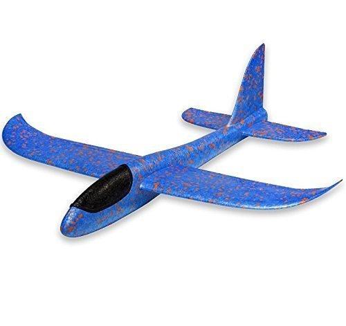 Uchic 1 pcs 36 cm Lancer de planeur inertie en mousse Avion Aircraft jouet Main lancement d'avion Modèle jouet Cadeau pour enfant garçon fille