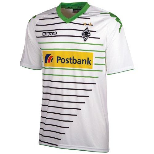 Kappa Kinder Trainingsshirt Borussia Mönchengladbach Trikot Home, Weiß/Grün, 128, 401900J-001