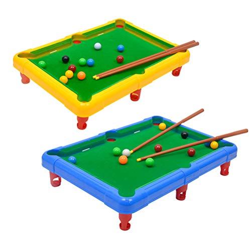 TOYANDONA Mini-Billardtisch Set Billardtisch Spiel im Freien für Kinder, Erwachsene, Party, Spaß (zufällige Farbe)