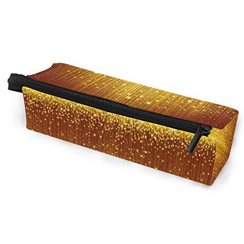 Bleistiftbeutel Federmäppchen Beutel Abstrakt Weihnachten Golden Glitter Art Makeup Kosmetik Sonnenbrillen für Mädchen Jungen Travel School
