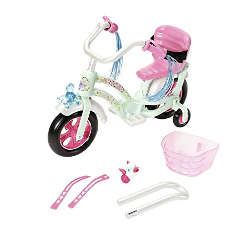 Zapf Creation 827208 Baby Born Play&Fun Fahrrad, rosa, weiß, Mint