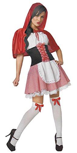 Rotkäppchen Damen Karneval Kostüm Kleid mit Korsett Fasching Märchen S-M-L (Korsett Kleid Kostüme)