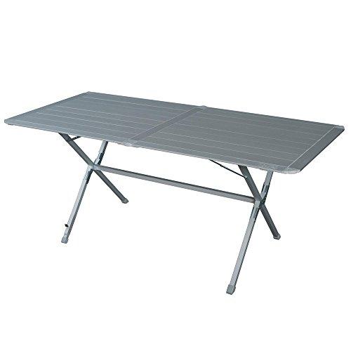 Aluminium Campingtisch Zusammenklappbar. Platzsparend. Mehrzwecktisch für Indoor und Outdoor zum Zelten, Koffertisch Platte rollbar, Campingtisch Hochwertiger Klapptisch inkl. Tragetasche mit Griff