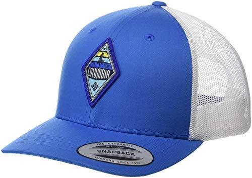 Columbia Kinder Youth Snap Back Hat Schirmmütze, Blau (Super Blue, Diamond Patch), Einheitsgröße -