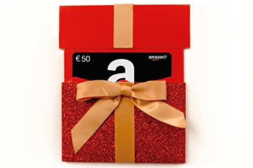 Carte cadeau Amazon.fr - €50 - Dans un étui Noël