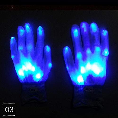 Teabelle LED Handschuhe Blinklicht up Full Finger Halloween -
