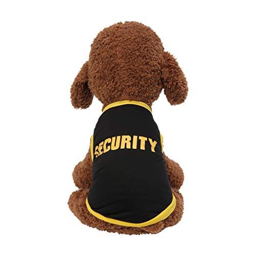 T.boys Pet Sommer Hundeshirt, Sommershirt für Hunde Buchstabendruck Kontrastfarbe Ärmellos Tank Top Hundebekleidung Weste für Kleine Medium Puppy Dogs Katzen (Dog Boy Kostüm)