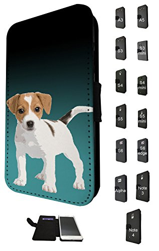 Galaxy Samsung S5 Case Gucci Flip (1508 - Cool Fun Trendy Cute dog jack russel pets collage animals Design Samsung Galaxy S5 Mini Fashion Trend TPU Leder Brieftasche Hülle Flip Cover Book Wallet Credit Card Kartenhalter Case)