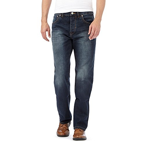 Rjr.John Rocha Men Designer Dark Blue Regular Jeans