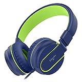 Kinder-Kopfhörer, Elecder i36 Kopfhörer für Kinder, Teens, Erwachsene, leichtes, faltbares, verstellbares Telefon über Kopfhörer-Kopfhörer für Handys Computer MP3/4, Blau