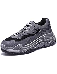 Mujeres Bomba Deporte Zapatos Grueso Inferior Cruz Correas Casual Zapatos Comforty Snekers Zapatillas de Running EU tamaño 34-40,Gray,35EU