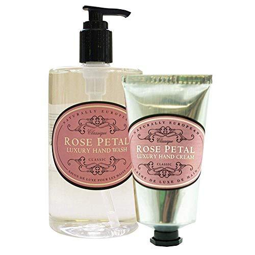Naturally European Rose Petal Hand Wash & Hand Cream Duo Pack Hand Wash Duo