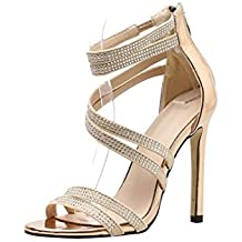 Gusspower Zapatos Latinos para Mujer/Zapatillas de Baile Sandalia de Encaje Interior/Profesional/
