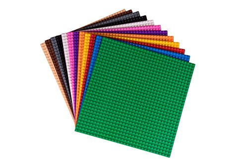 Strictly Briks - Classiche basi per Costruzioni - 25,4 x 25,4 cm | 100% compatibili con Tutte Le Principali Marche | Basi Piatte per Tavole da Gioco Fai da Te |12 basi | Colori dell'Arcobaleno