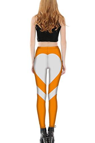 La Femme Est En Forme De Cœur Yoga Sports Élastique Pantalon Serré Les Jambières Orange