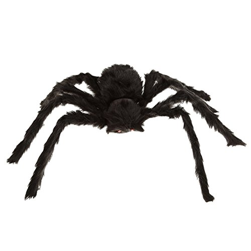WINOMO Große Spinne Halloweendekoration Haunted House Prop Plüsch Spinne unheimlich Dekoration 12