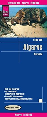 Algarve, mapa impermeable de carreteras. Escala 1: 100.000. Reise Know-How. por VV.AA.