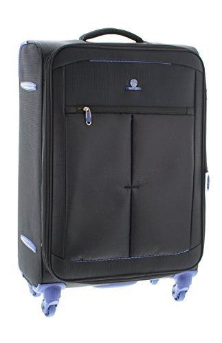 Pianeta Trolley baule valigia, trolley da viaggio bagaglio per il viaggio morbido (nero XL)