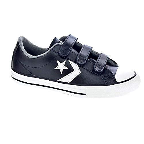 Converse Unisex-Kinder Star Player 3v Fitnessschuhe Mehrfarbig (Black/Mason/Vintage White 001) 28 EU - Converse Jungen Schuhe