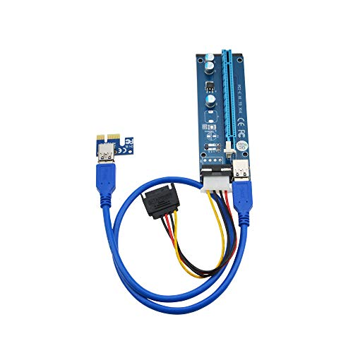 6 Pack | PCIe x1 x16 Tarjeta adaptadora vertical cable