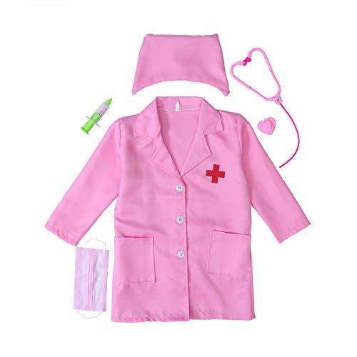 STOBOK Kleine Mädchen Krankenschwester Kostüm mit Medical - Mädchen Kleine Krankenschwester Kostüm